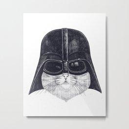 Darth Cat Metal Print