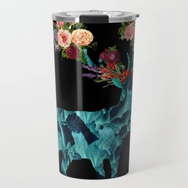 Sprint Itself Deer Floral Dark Travel Mug