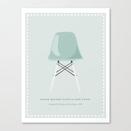 Mid-Century Molded Plastic Chair Canvas Print