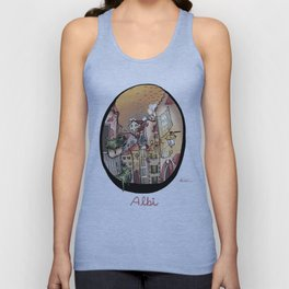 Streets in Albi Unisex Tank Top