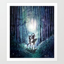 Dance by the Silver Moon Art Print