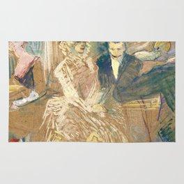 """Henri de Toulouse-Lautrec """"Au Bal masqué de l'Elysée Montmartre"""" Rug"""