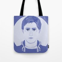 breakfast club Tote Bags featuring The Breakfast Club - Andrew by Priscila Floriano