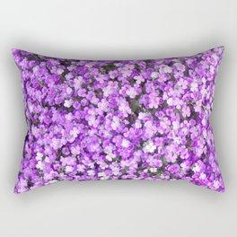 Pretty Purple Flowers, Purple Ground Cover, Beautiful Flowers Rectangular Pillow