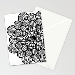 Zentangle petals Stationery Cards