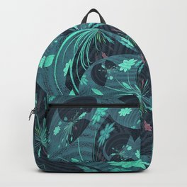 Fireworks on Venus Floral Mandala Backpack