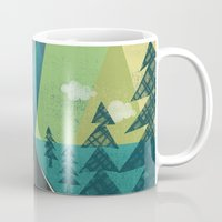 road Mugs featuring The Long Road at Night by Jenny Tiffany