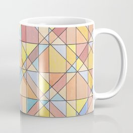 Triangle Pattern no.16 Pastels Coffee Mug