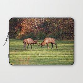 Elk Sparring Great Smoky Mountains Laptop Sleeve