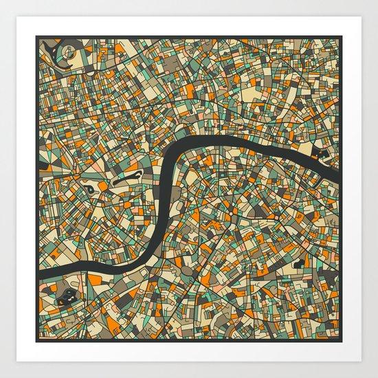 LONDON MAP 2 Art Print