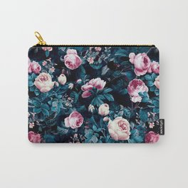Roses Blue Carry-All Pouch