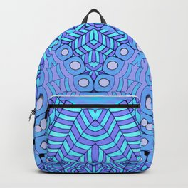 Malibu, Indigo & Aquamarine Flower Patterm Mandala Backpack