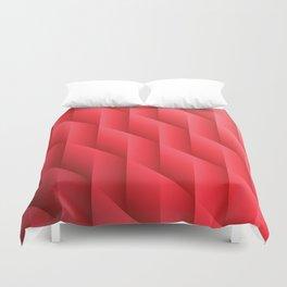 Gradient Red Diamonds Geometric Shapes Duvet Cover