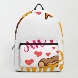 Just A Girl Who Loves SLoths And Pizza Hawaiian Tomato Pizza Backpack