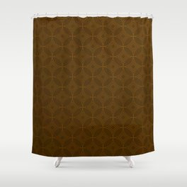 Chocolate Brown Moroccan Geometric Pattern Shower Curtain