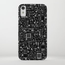 All Tech Line INVERTED / Highly detailed computer circuit board pattern iPhone Case