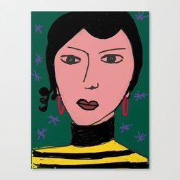 Portrait by Stefania Canvas Print