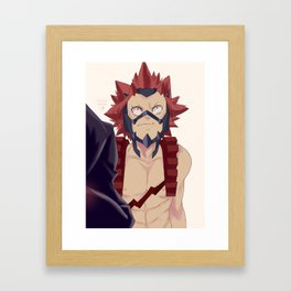 Kirishima Screenshot re-paint Framed Art Print
