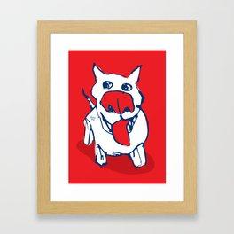 Citydog - red Framed Art Print