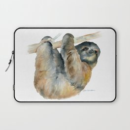 Sloth Watercolor Painting Laptop Sleeve