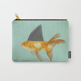 Goldfish with a Shark Fin (under a cloud) Carry-All Pouch