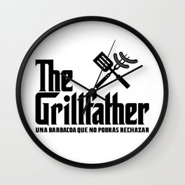 The Grillfather (esp) Wall Clock
