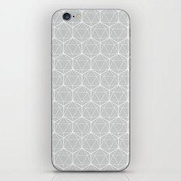 Icosahedron Soft Grey iPhone Skin