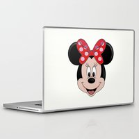 minnie mouse Laptop & iPad Skins featuring Minnie Mouse by Yuliya L