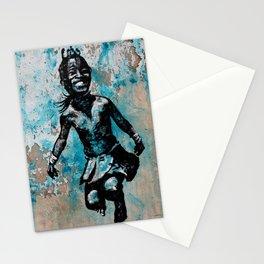 JUMPING CHILD - urban ART Stationery Cards