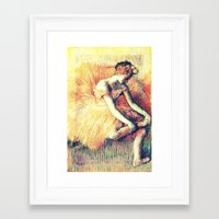 ballerina Framed Art Prints featuring BallerinA by PureVintageLove