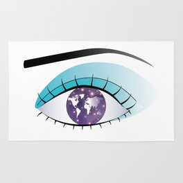 The world in Universe in the Eye Rug