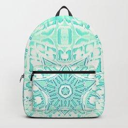 Seafoam Teal Gothic Stars Backpack