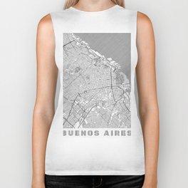 Buenos Aires Map Line Biker Tank
