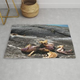 Watercolor Death 02, Kejimkujic, Nova Scotia, Canada, Crushing News Rug