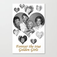 golden girls Canvas Prints featuring The Golden Girls by BeeJL