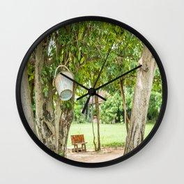Bucket & Trees, Killing Fields, Cambodia Wall Clock