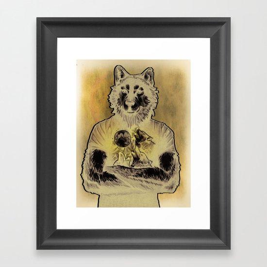 Four Wolf Moon Framed Art Print