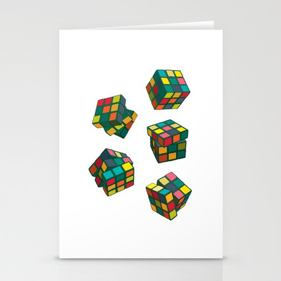 Rubik's Cubes Stationery Cards