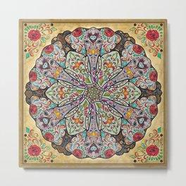 Mandala Elephants Metal Print