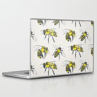 bees Laptop & iPad Skins featuring Bees by Tracie Andrews