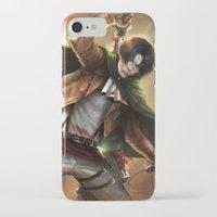 levi iPhone & iPod Cases featuring Levi Heichou by K.Koji