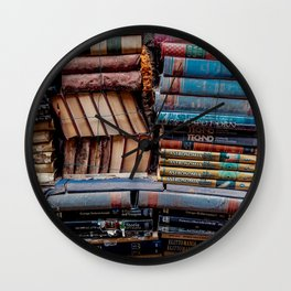 Book nook, Venice Italy Wall Clock