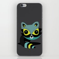 raccoon iPhone & iPod Skins featuring Raccoon by Maria Jose Da Luz