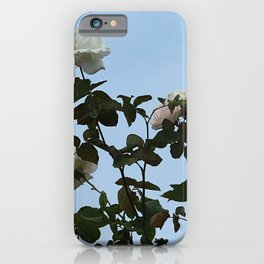 White Roses Flowers Rosebush iPhone Case