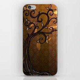 LEAVE - Autumn Amber iPhone Skin