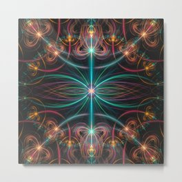 Fluorescent laser beams Metal Print