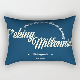 F*cking Millennials Rectangular Pillow