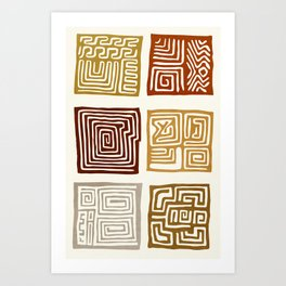 African Ceremonial Pattern Art Print