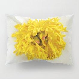 White Krinkled Peony Up Close Pillow Sham