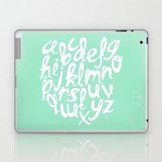 MINT ALPHABET Laptop & iPad Skin